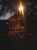 Itty bitty cell phone pic. Still lovely. Cistern Yard.