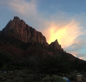 The view from our campsite.