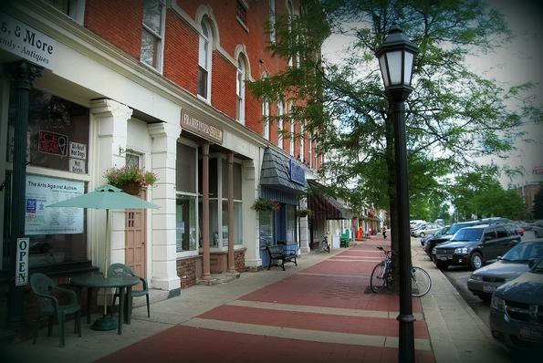 Downtown Chardon, OH.